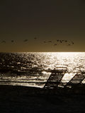 Sun Set with Chairs Stock Images