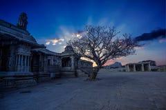 Stone chariot vijaya vithala temple main attraction at hampi, karnataka, india