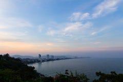 Sun set at Hua Hin beach Royalty Free Stock Image