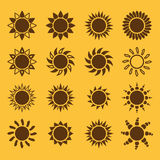 The sun set of 16 icon. Sunrise and sunshine, weather, sun symbol Royalty Free Stock Photo