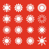 The sun set of 16 icon. Sunrise and sunshine, weather, sun symbol Stock Photography