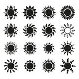 The sun set of 16 icon. Sunrise and sunshine, weather symbol Royalty Free Stock Photography