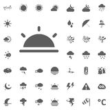 Sun set icon. Weather vector icons set Stock Image