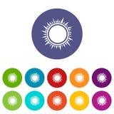 Sun set icons Royalty Free Stock Image