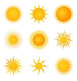 Sun set icons Royalty Free Stock Images