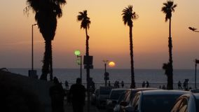 Sun set in Israel Stock Images