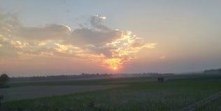 Sun set. Jpg. Natural beauti sunset Eveing royalty free stock photo
