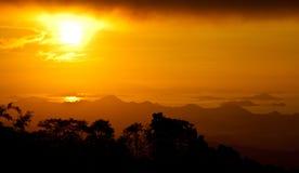 Sun set. At Komodo National Park a Stock Photos