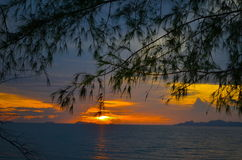 Sun set at one of the post popular island in thailand Stock Photo