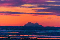 Sun Set Over Cook Inlet Royalty Free Stock Image