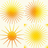 Sun set  pattern Royalty Free Stock Photography