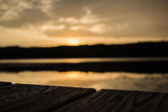 Sun set at pickerel lake Royalty Free Stock Images