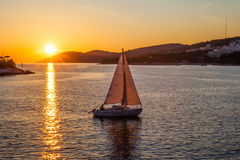 Sun set Sailing Royalty Free Stock Photography