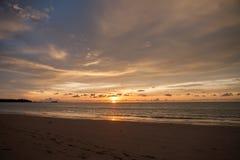 Sun set of the sea Royalty Free Stock Photo