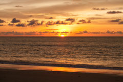 Sun set of the sea Royalty Free Stock Photography