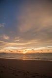 Sun set of the sea Stock Photography