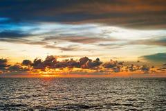 Sun set in the sea, Thailand Royalty Free Stock Photo