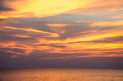 Sun set by the sea Stock Photos