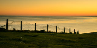 Sun set at Seven Sisters (2), Sussex, England Stock Images