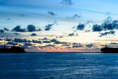 Sun set take from sarasin Bridge , Phang Nga Stock Photography
