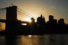 New York rays of light royalty free stock images