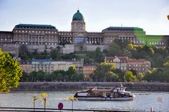 The Hungarian National Gallery in Budapest, Hungary. The sun sets behind the Hungarian National Gallery in Budapest, Hungary royalty free stock photos