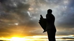 Sun Sets on Big Jock at Celtic Park Royalty Free Stock Image