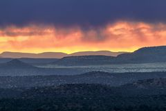 Stormy Arizona Sunset Stock Images