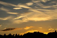 Orange wild sky sunset Stock Photos