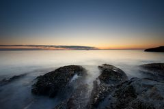 Sunset out in the North Sea Royalty Free Stock Images