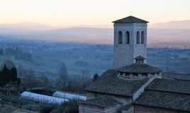 Sundown Over Assisi Royalty Free Stock Photography