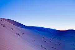 Sun sets over Erg Chebbi at Morocco Royalty Free Stock Image