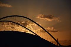 Olympic Stadium Sunset stock photos