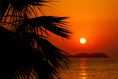 Sun setting Royalty Free Stock Images