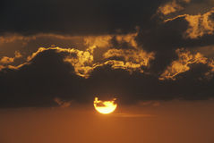 Sun Setting Royalty Free Stock Photography