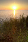 Sun setting in Albufera Stock Photo