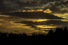 The Sun Setting In Leicester Royalty Free Stock Photography