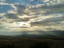 Golan heights sunset stock image