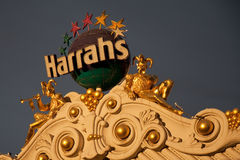 Sun Setting on Harrahs Stock Photo