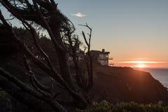 Sun setting on the horizon near Ben Jones Bridge Viewpoint royalty free stock photo