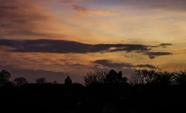 The Sun Setting In Leicester Royalty Free Stock Photo