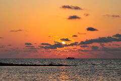 Sun setting in Maldives Royalty Free Stock Image