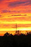 Sun setting on an Oklahoma night Stock Photography