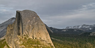 Sun Setting On Half Dome,yosemite. Stock Images