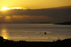 Sun Setting over Atlantic Stock Photography