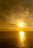 Sun setting over the Black sea Royalty Free Stock Image