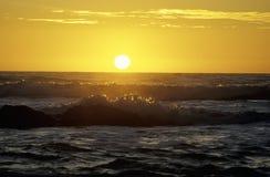Sun Setting Over The Ocean Stock Photography