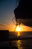Sailing Setting Sun Royalty Free Stock Images