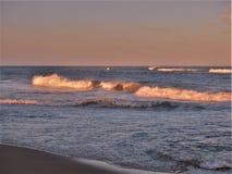 North Carolina Outer Banks Beach Sunset Stock Photography
