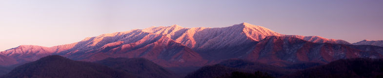 Sun setting on Smoky Mountains Stock Images